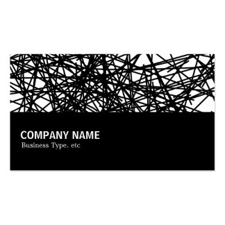 Halfway 048 - Random Lines Double-Sided Standard Business Cards (Pack Of 100)