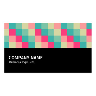 Halfway - Color Squares 013 Business Card Template