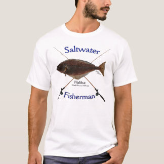 Halibut fishermans saltwater fishing Tshirt