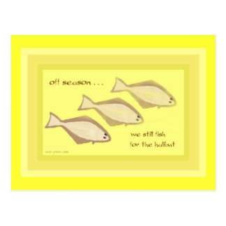 Halibut Haiku Art Postcard - Collectible Postcard