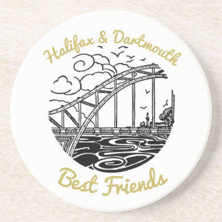 Halifax Dartmouth Best Friend sandstone coaster