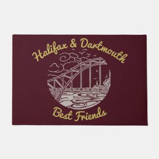 Halifax Dartmouth best friend welcome mat Burgundy