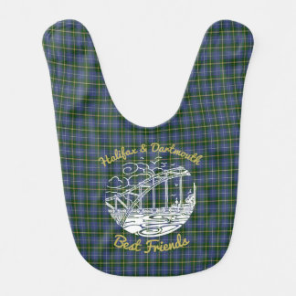 Halifax Dartmouth Best  Friends baby  bib tartan