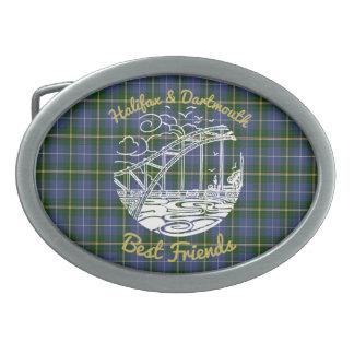 Halifax Dartmouth  Best Friends belt buckle tartan