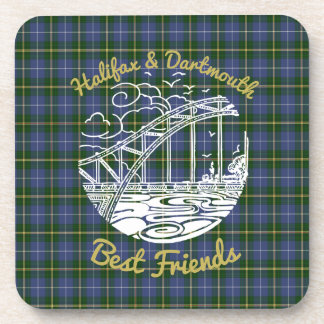Halifax Dartmouth Best Friends drink coaster set