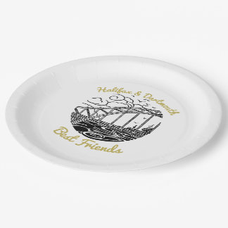 Halifax Dartmouth best friends paper plate