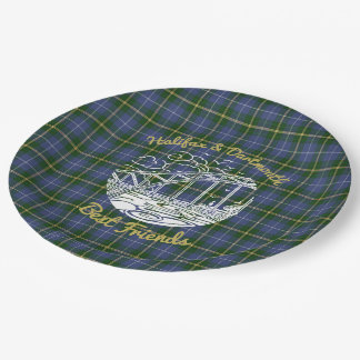 Halifax Dartmouth best friends paper plate tartan