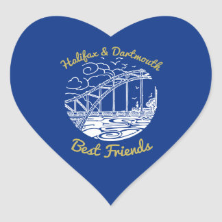 Halifax & Dartmouth best friends  sticker