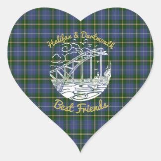 Halifax & Dartmouth best friends sticker tartan