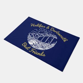 Halifax & Dartmouth best friends welcome mat blue