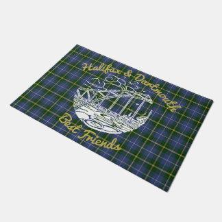 Halifax  Dartmouth best friends welcome mat tartan