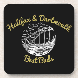 Halifax & Dartmouth  coaster set best friends buds