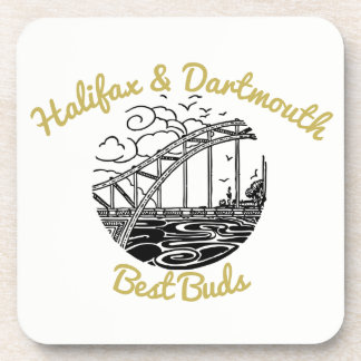 Halifax & Dartmouth drink coaster best buds