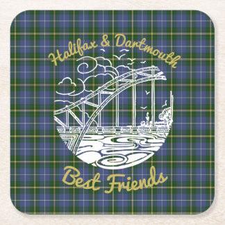 Halifax Dartmouth   Friends party coaster   tartan