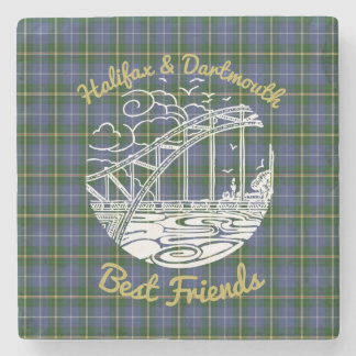 Halifax Dartmouth Friends stone coaster tartan
