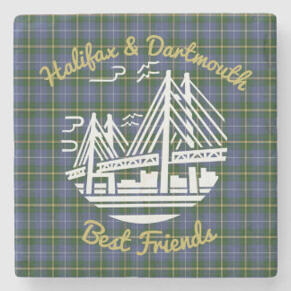 Halifax  Dartmouth  friends tartan stone coaster