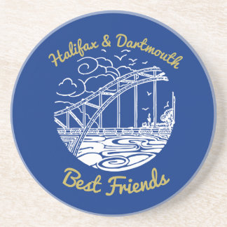 Halifax Dartmouth N.S. Best Friends coaster blue