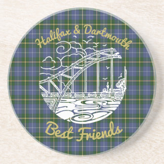 Halifax Dartmouth N.S. Best Friends coaster tartan
