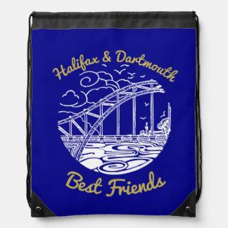 Halifax Dartmouth N.S. Best Friends drawstring bag