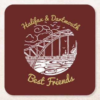 Halifax Dartmouth N.S. Best Friends party coaster