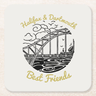 Halifax Dartmouth N.S. Best Friends party coaster