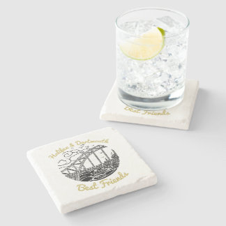 Halifax Dartmouth N.S. Best Friends stone coaster