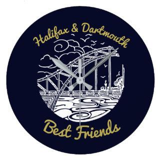 Halifax Dartmouth N.S. Best Friends wallclock blue