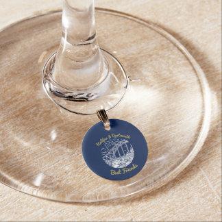 Halifax Dartmouth N.S. Best Friends wine charm