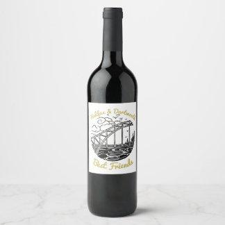 Halifax Dartmouth N.S. Best Friends wine label
