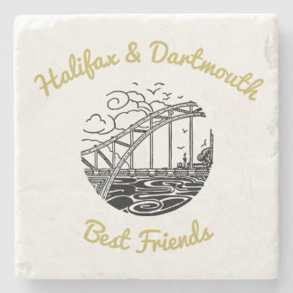 Halifax  Dartmouth stone coaster best friends buds