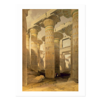 "Hall of Columns, Karnak, from ""Egypt and Nubia"", V Postcard"