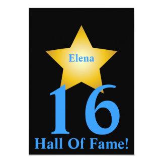 Hall Of Fame Sweet Sixteen-Customize 13 Cm X 18 Cm Invitation Card