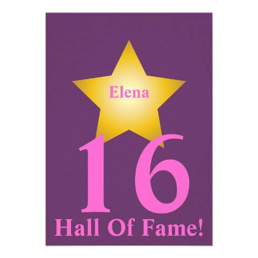 Hall Of Fame Sweet Sixteen-Customize Announcement