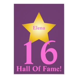 Hall Of Fame Sweet Sixteen-Customize 5x7 Paper Invitation Card