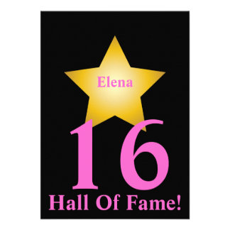 Hall Of Fame Sweet Sixteen-Customize Personalized Invitation