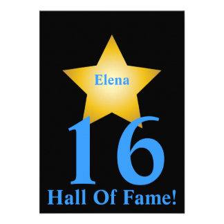 Hall Of Fame Sweet Sixteen-Customize Invitations