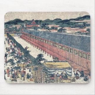 Hall of thirty three bays by Utagawa,Toyoharu Mouse Pad