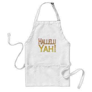 Hallelu Yah! (gold) Standard Apron