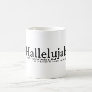 Hallelujah, a joyful noise of praise basic white mug