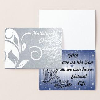 Hallelujah Christ Lives Silver Foil Card