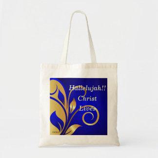 Hallelujah Christ Lives Tote Bag