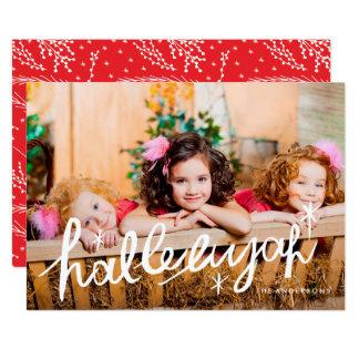 Hallelujah Religious Photo Card Lettering Type