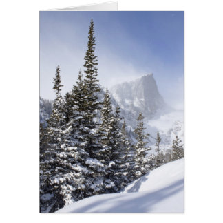 Hallett Peak in March Card