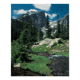 Hallett Peak , Rocky Mountain National Park , Poster