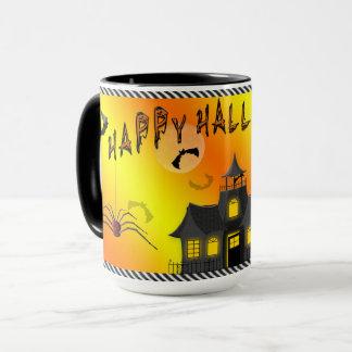 Hallo-ween Mug - Bats, Haunted House