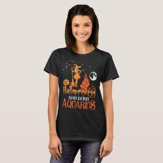 Halloprincess Are Born Aquarius Halloween Zodiac T-Shirt