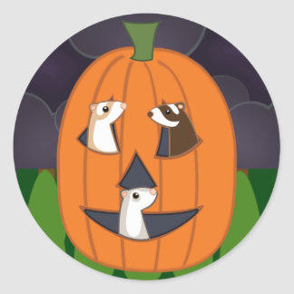 Halloweasel Stickers