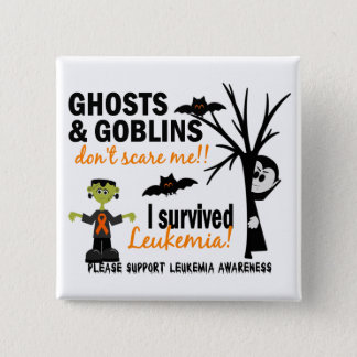 Halloween 1 Leukemia Survivor 15 Cm Square Badge