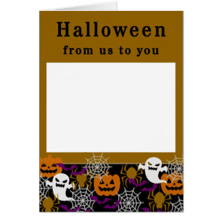 Halloween Add Your Own Family Photo Card