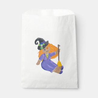 Halloween Adorable Witch Doll Favor Bags